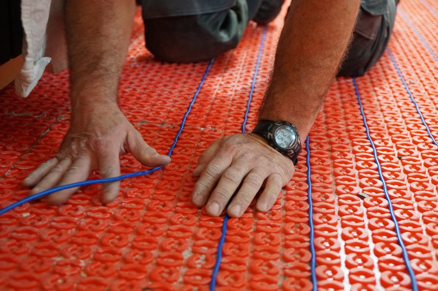 Flexible DCM-PRO floor heating system