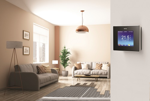 salon avec thermostat intelligent 4iE