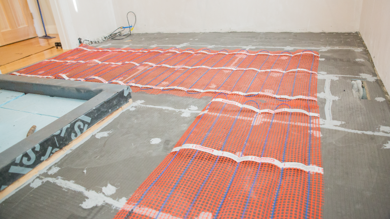 Tile and stone floor heating