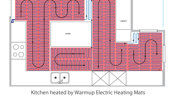 Heated Floor Mat layout