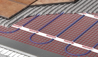 Heated Mat System layers cutaway