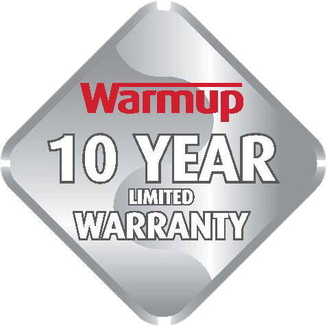 Warmup Ten Year Limited Warranty