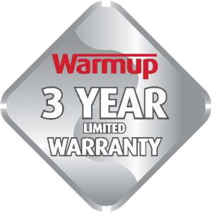 Warmup Three Year Limited Warranty